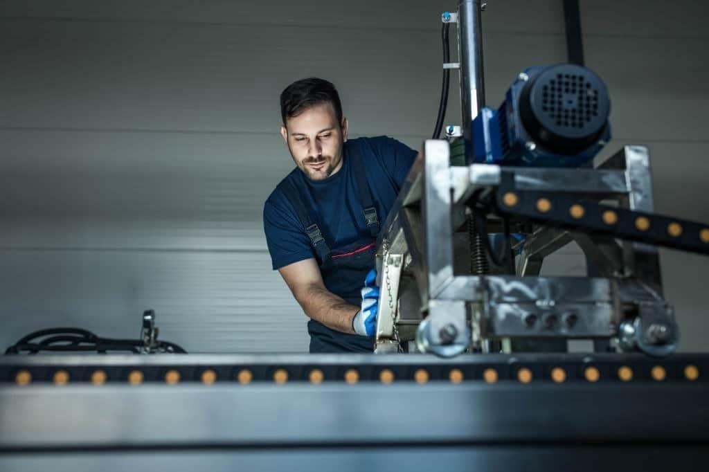 Mechanical engineering worker in internship